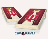 Indiana Hoosiers Stained Pyramid Cornhole Set
