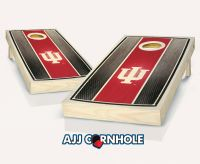 Indiana Hoosiers Stained Stripe Cornhole Set