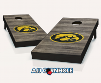 Iowa Hawkeyes Distressed Cornhole Set