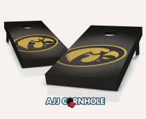 Iowa Hawkeyes Slanted Cornhole Set