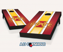 Iowa State Cyclones Striped Cornhole Set