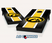 Iowa Hawkeyes Striped Cornhole Set