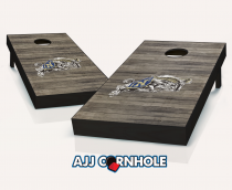 US Naval Academy Distressed Cornhole Set