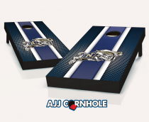 US Naval Academy Striped Cornhole Set