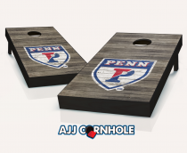 Penn Quakers Distressed Cornhole Set