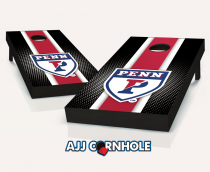 Penn Quakers Striped Cornhole Set