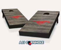 SMU Mustangs Distressed Cornhole Set