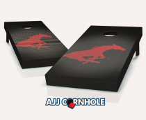 SMU Mustangs Slanted Cornhole Set