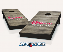 St John's Red Storm Distressed Cornhole Set