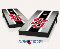 St John's Red Storm Striped Cornhole Set
