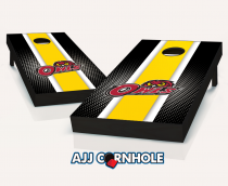 Temple Owls Striped Cornhole Set