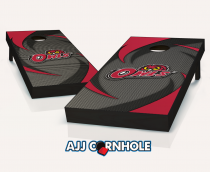 Temple Owls Swoosh Cornhole Set