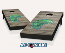 Tulane Green Wave Distressed Cornhole Set
