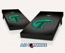 Tulane Green Wave Slanted Cornhole Set