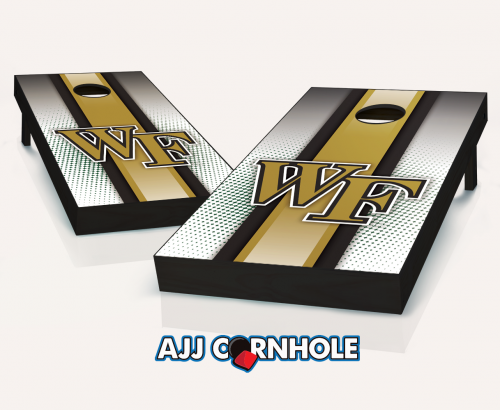 Wake Forest Demon Deacons Striped Cornhole Set