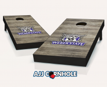 Weber State Wildcats Distressed Cornhole Set