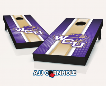 Western Carolina Catamounts Striped Cornhole Set