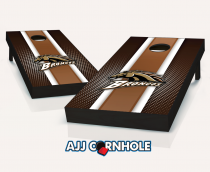 Western Michigan Broncos Striped Cornhole Set