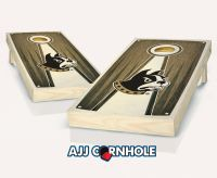 Wofford Stained Pyramid Cornhole Set