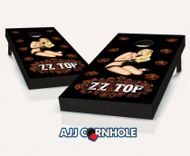 """ZZ Top Roses"" Cornhole Set"