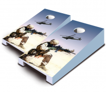 """Desert Warfare"" Tabletop Cornhole Set"