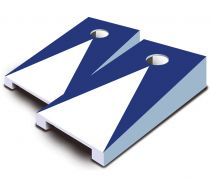 """Navy Blue Pyramid"" Tabletop Cornhole Set"