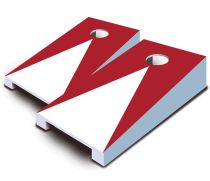 """Red Pyramid"" Tabletop Cornhole Set"