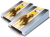 Wyoming Cowboys Striped Tabletop Set