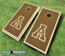 App State Mountaineers Stained Cornhole Set