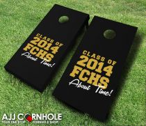 """About Time Graduation"" Cornhole Set"