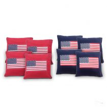 """USA Flag"" Cornhole Bags - Set of 8"