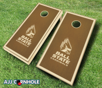 Ball State Cardinals Stained Cornhole Set