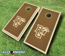 Bowling Green Falcons Stained Cornhole Set