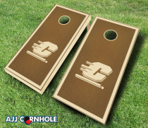 """Central Michigan Flying C's"" Stained Cornhole Set"