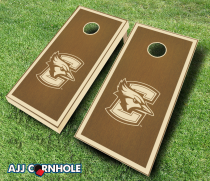 """Creighton Bluejays"" Stained Cornhole Set"