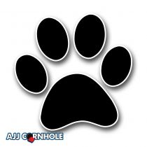 Paw Print Cornhole Decal