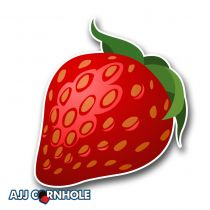 Strawberry Cornhole Decal