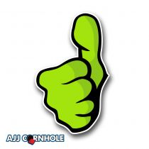 Thumbs Up Cornhole Decal