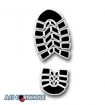 Boot Print Cornhole Decal