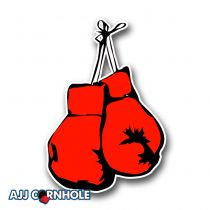 Boxing Gloves Cornhole Decal