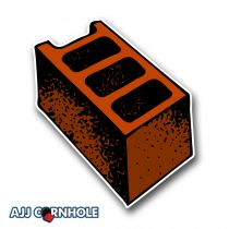 Brick Throw Cornhole Decal