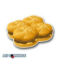 Burgers Cornhole Decal