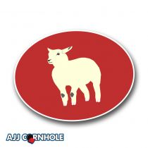Certified Lamb Cornhole Decal