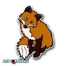 Cute Fox Cornhole Decal