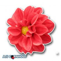 Dahlia Cornhole Decal