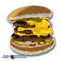 Dirty Burger Cornhole Decal