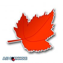 Maple Leaf Cornhole Decal