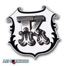 Monogram Shield Cornhole Decal