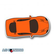 Orange Sports Car Cornhole Decal