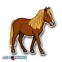 Pony Cornhole Decal